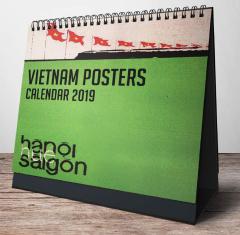 Lịch Bàn Chữ A 2019 - Vietnam Posters (Hanoi-Hue-Saigon)