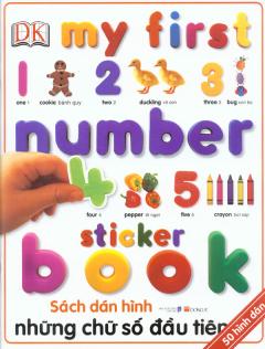 Sách Dán Hình - Những Chữ Số Đầu Tiên