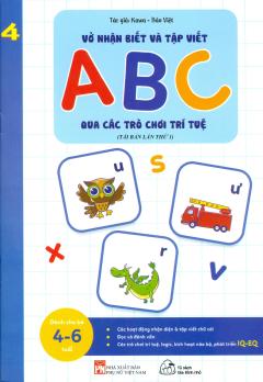 Vở Nhận Biết Và Tập Viết ABC Qua Các Trò Chơi Trí Tuệ 4