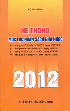 Hệ Thống Mục Lục Ngân Sách Nhà Nước 2012