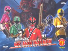 DVD Shinkenger Siêu Nhân Thần Kiếm - Trọn Bộ 49 Tập (Bộ 12 DVD)
