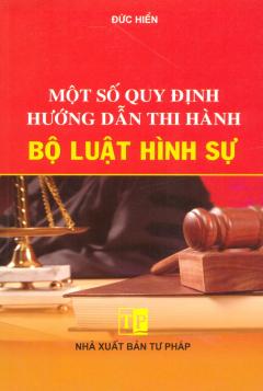 Một Số Quy Định Hướng Dẫn Thi Hành Bộ Luật Hình Sự