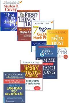 Bộ Sách Của Tác Giả Stephen R. Covey (Bộ 7 Cuốn)