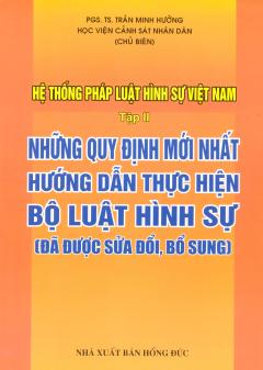 Hệ Thống Pháp Luật Hình Sự Việt Nam - Tập 2: Những Quy Định Mới Nhất Hướng Dẫn Thực Hiện Bộ Luật Hình Sự