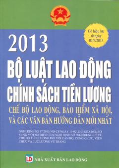 Bộ Luật Lao Động 2013 - Chính Sách Tiền Lương, Chế Độ Lao Động, Bảo Hiểm Xã Hội Và Các Văn Bản Hướng Dẫn Mới Nhất