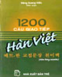 1200 Câu Giao Tiếp Hàn - Việt